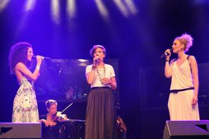 Patricia Meeden, Roberta Valentini und Sabrina Weckerlin. Foto: Sandra Reichel