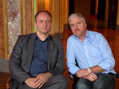 Moritz Staemmler und Anthony McCarten. Foto: Barbara Kern