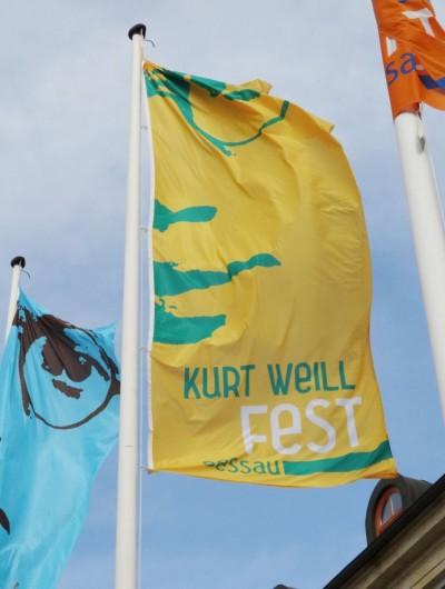 4. Kurt Weill Fest Fahne
