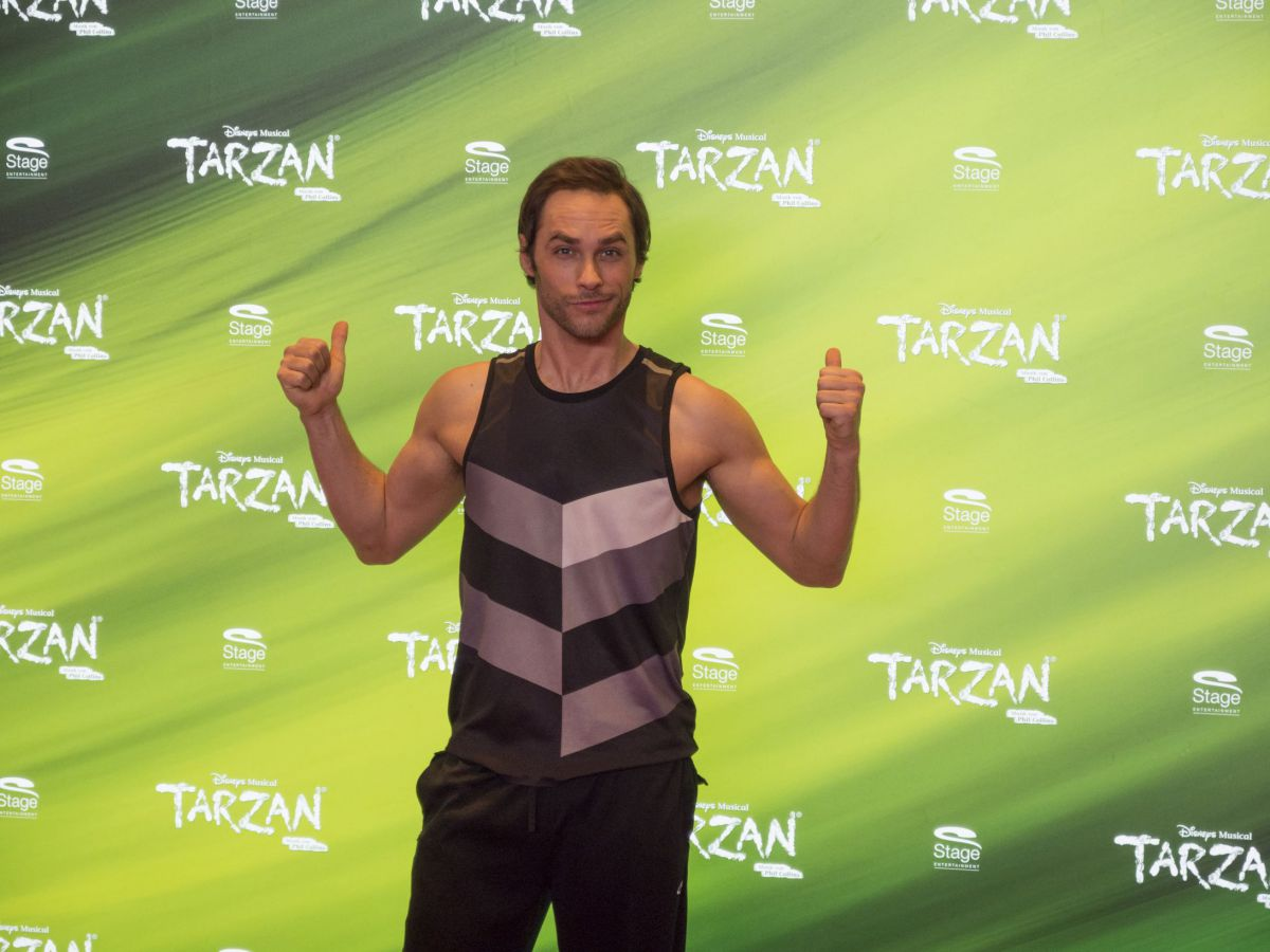 Josh Strickland, ab Mitte Mai 2017 der neue Tarzan in Oberhausen. Foto: Birgit Bernds