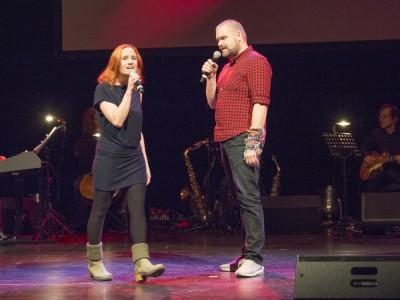 Vera Bolten und Enrico De Pieri singen ›Verlieben, verloren, vergessen, verzeih'n‹Foto: Birgit Bernds