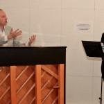 Robert Emery (Musical Supervisor, l.) mit Willemijn Verkaik (Sloane)Foto: Birgit Bernds