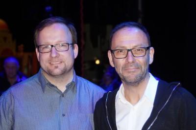 Benjamin Neuen (Technical Supervisor) und Produzent Hans RauschFoto: Ingrid Kernbach