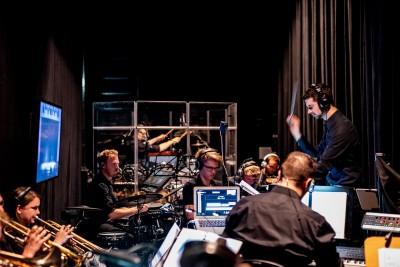 Nicolai Benner bei der Arbeit (Orchester der Musical Inc. Mainz)Foto: privat