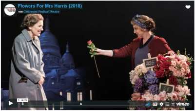 »Flowers for Mrs Harris« im Chichester Festival Theatre 2018 online bis 8. Mai 2020<br>Screen: Chichester Festival Theatre/vimeo